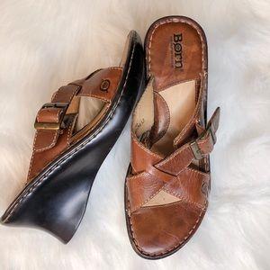 Børn Leather Heeled Sandals - Brown - Size 7